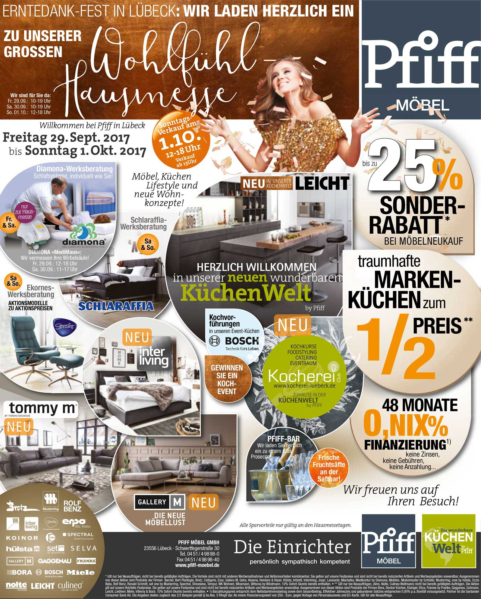 1 oktober 2017 eine stadt feiert erntedank aktionen in den gesch ften l beck management e v. Black Bedroom Furniture Sets. Home Design Ideas