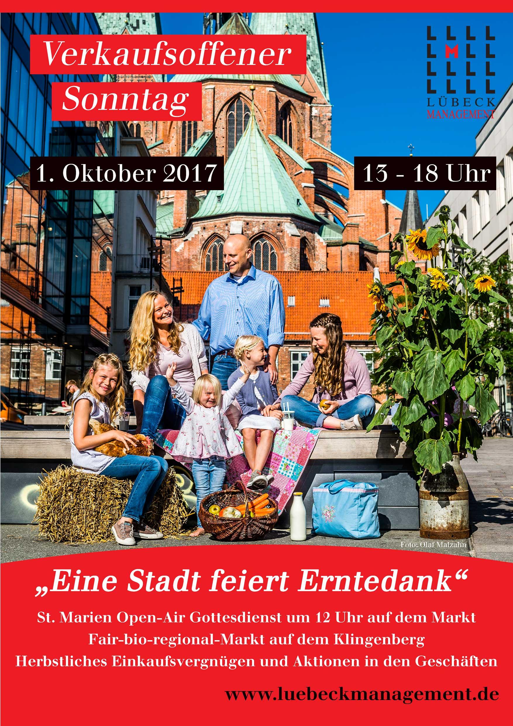 Verkaufsoffener Sonntag In Lubeck Am 1 Oktober 2017 Unter Dem Motto